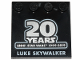 Part No: 6179pb151  Name: Tile, Modified 4 x 4 with Studs on Edge with SW '20 YEARS LEGO STAR WARS 1999-2019' and 'LUKE SKYWALKER' Pattern