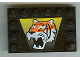 Part No: 6180pb006  Name: Tile, Modified 4 x 6 with Studs on Edges with Tiger Pattern (Sticker) - Set 6616
