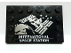 Part No: 6180pb123  Name: Tile, Modified 4 x 6 with Studs on Edge with 'INTERNATIONAL SPACE STATION' and Space Station Image Pattern