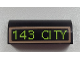 Part No: 6191pb005  Name: Brick, Modified 1 x 4 x 1 1/3 No Studs, Curved Top with '143 CITY' Pattern (Sticker) - Set 60026