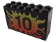 Part No: 6213pb07  Name: Brick 2 x 6 x 3 with Flame 10 Pattern