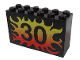 Part No: 6213pb08  Name: Brick 2 x 6 x 3 with Flame 30 Pattern