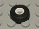 Part No: 6230  Name: Tire Smooth Small with White Hollow Fixed Center (Space Shuttle Wheel)