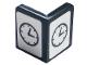 Part No: 6231pb03  Name: Panel 1 x 1 x 1 Corner with Black Clock on Two Sides Pattern (Sticker) - Set 10272