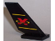 Part No: 6239pb001  Name: Tail Shuttle with Red Extreme Team Logo Pattern on Both Sides (Stickers)