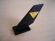 Part No: 6239pb008  Name: Tail Shuttle with Black 'R.E.S.' and Red 'Q' on Yellow Triangle with Black Border Pattern on Both Sides (Stickers) - Set 6462