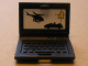 Part No: 62698pb03  Name: Minifigure, Utensil Computer Laptop with 'A', Car and HelicopterScreen Pattern (Sticker) - Set 8635