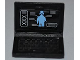 Part No: 62698pb05  Name: Minifigure, Utensil Computer Laptop with Alien Android Screen Pattern (Sticker) - Set 7066