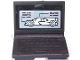 Part No: 62698pb11  Name: Minifigure, Utensil Computer Laptop with Race Car on Screen Pattern (Sticker) - Set 75887