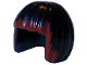 Part No: 62711pb01  Name: Minifigure, Hair Short, Bob Cut with Dark Red Bangs Pattern (Karai)