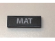 Part No: 63864pb062  Name: Tile 1 x 3 with 'MAT' License Plate Pattern (Sticker) - Set 10252