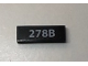 Part No: 63864pb064  Name: Tile 1 x 3 with '278B' License Plate Pattern (Sticker) - Set 10252