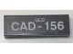 Part No: 63864pb065  Name: Tile 1 x 3 with 'QLD CAD-156' License Plate Pattern (Sticker) - Set 10252