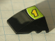Part No: 64225pb001  Name: Wedge 4 x 3 No Studs with Yellow Number 1 and White Line on Lime and Black Background Pattern (Sticker) - Set 8119
