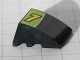 Part No: 64225pb002  Name: Wedge 4 x 3 No Studs with Yellow Number 7 and White Line on Lime and Black Background Pattern (Sticker) - Set 8119