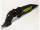 Part No: 64263pb01  Name: Bionicle Wing Angled with Hose and Lime Center (Tuma)