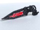 Part No: 64263pb02  Name: Bionicle Wing Angled with Hose and Red Center (Skrall)