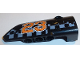 Part No: 64391pb032  Name: Technic, Panel Fairing # 4 Small Smooth Long, Side B with Orange '23' and White Checkered Pattern (Sticker) - Set 42002
