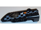 Part No: 64391pb033  Name: Technic, Panel Fairing # 4 Small Smooth Long, Side B with Air Intake Port, arrow with Caution Sign and White Checkered Pattern (Sticker) - Set 42002