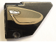 Part No: 64680pb017  Name: Technic, Panel Fairing #14 Large Short Smooth, Side B with Dark Tan Inside Door Pattern (Sticker) - Set 42083