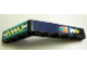 Part No: 6629pb007  Name: Technic, Liftarm 1 x 9 Bent (6 - 4) Thick with Yellow Spring and Arrows Pattern (Stickers) - Set 8245