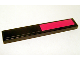 Part No: 6636pb021  Name: Tile 1 x 6 with Red and Black Pattern (Sticker) - Set 7886