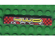 Part No: 6636pb037  Name: Tile 1 x 6 with '4WD RACE' Pattern (Sticker) - Set 8279