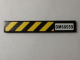 Part No: 6636pb090  Name: Tile 1 x 6 with 'DM60059' and Black and Yellow Danger Stripes Pattern (Sticker) - Set 60059