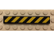 Part No: 6636pb091  Name: Tile 1 x 6 with Black and Yellow Danger Stripes Thin Pattern (Sticker) - Set 60059