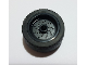Part No: 66727c01  Name: Wheel 18mm D. x 12mm with Pin Hole and Stud, Dotted Brake Rotor Lines with Black Tire 24 x 12 Low (66727 / 18977)