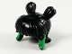 Part No: 66915pb01  Name: Minifigure, Hair Female 2 Short Pigtails with Green Highlights Pattern