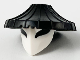 Part No: 66959pb01  Name: Minifigure, Headgear Hat, Conical Asian with Raised Center and White Mask With Large Black Eyes Pattern