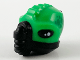 Part No: 69965pb01  Name: Minifigure, Head Modified Alien, Ridges, Spines, Breathing Mask, Bright Green Skin and Green Scales Pattern