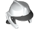 Part No: 69971pb01  Name: Minifigure, Headgear Fire Helmet with Neck Protection and White Helmet Top Pattern