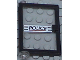Part No: 73436c01pb03  Name: Door 1 x 4 x 5 Left with Trans-Clear Glass and 'POLICE' Red Line Pattern (Sticker) - Set 6398