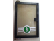 Part No: 73436c03pb01  Name: Door 1 x 4 x 5 Left with Trans-Black Glass and Dollar Sign '$' in Green Circle Pattern (Sticker) - Set 4854