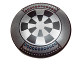 Part No: 75902pb07  Name: Minifigure, Shield Round with Rounded Front with Dart Board (Dejarik Hologame Board) Pattern