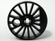 Part No: 85489a  Name: Train Wheel RC Train, Spoked with Technic Axle Hole and Counterweight, 30 mm D. (Blind Driver)