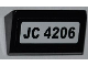 Part No: 85984pb011  Name: Slope 30 1 x 2 x 2/3 with 'JC 4206' Pattern (Sticker) - Set 4206
