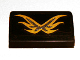 Part No: 85984pb015  Name: Slope 30 1 x 2 x 2/3 with Gold Wings Pattern (Sticker) - Set 9448