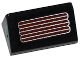 Part No: 85984pb083  Name: Slope 30 1 x 2 x 2/3 with Silver and Dark Red Grille Pattern (Sticker) - Set 70166