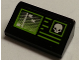 Part No: 85984pb133  Name: Slope 30 1 x 2 x 2/3 with Screen with Lime Border and White Skull Pattern (Sticker) - Set 76040