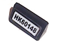 Part No: 85984pb185  Name: Slope 30 1 x 2 x 2/3 with Black 'HK60148' License Plate Pattern (Sticker) - Set 60148