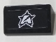 Part No: 85984pb187  Name: Slope 30 1 x 2 x 2/3 with Silver Ultra Agents Logo Pattern (Sticker) - Set 70165