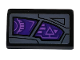 Part No: 85984pb261R  Name: Slope 30 1 x 2 x 2/3 with Purple Sight Pattern Model Right Side (Sticker) - Set 76100