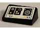 Part No: 85984pb263  Name: Slope 30 1 x 2 x 2/3 with SW Millennium Falcon Control Panel, White and Yellow Buttons and Speaker Pattern (Sticker) - Set 75212