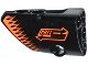 Part No: 87080pb010  Name: Technic, Panel Fairing # 1 Small Smooth Short, Side A with 'PULL BACK' and Orange Arrows Pattern (Sticker) - Set 42026