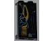 Part No: 87544pb005R  Name: Panel 1 x 2 x 3 with Side Supports - Hollow Studs with Hieroglyphs and Half Anubis Mask Pattern Right  (Sticker) - Set 7327