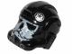 Part No: 87556pb10  Name: Minifigure, Headgear Helmet SW Stormtrooper Type 2, Black Ace Skull Pattern