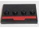 Part No: 88646pb007  Name: Tile, Modified 3 x 4 with Red Stripe Pattern (Sticker) - Set 75190